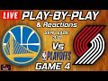 Warriors vs Trail Blazers Game 4 | Live Play-By-Play & Reactions