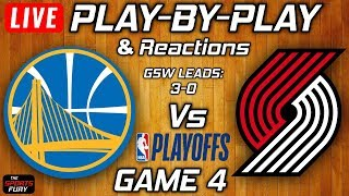 Gambar cover Warriors vs Trail Blazers Game 4 | Live Play-By-Play & Reactions