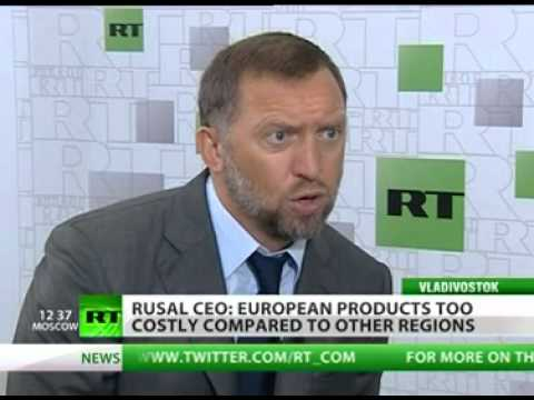 Oleg Deripaska interview for RT at APEC 2012