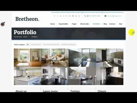 Bretheon Wordpress Theme Youtube