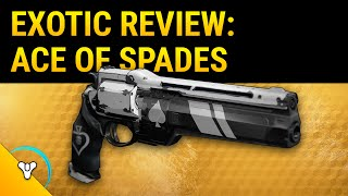 Destiny Taken King: Ace of Spades Exotic Weapon Review