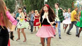 Стиляги - флешмоб. Стерлитамак август 2011