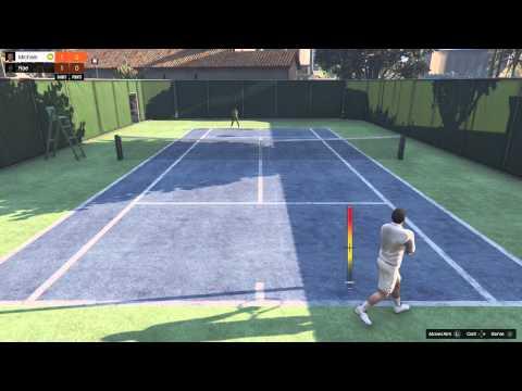 Grand Theft Auto V (PS4) TENNIS!