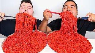EXTREMELY SPICY FLAMIN' HOT CHEETOS NOODLES • Mukbang & Recipe