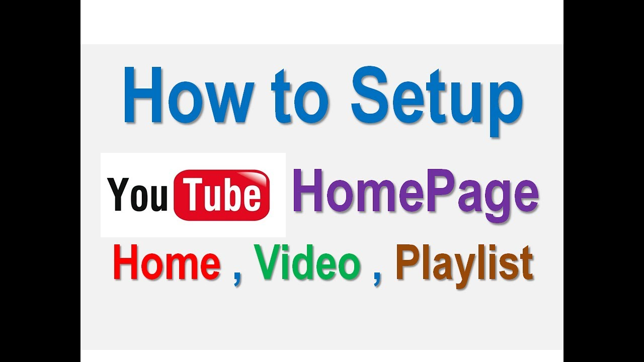how to put a video on youtube homepage
