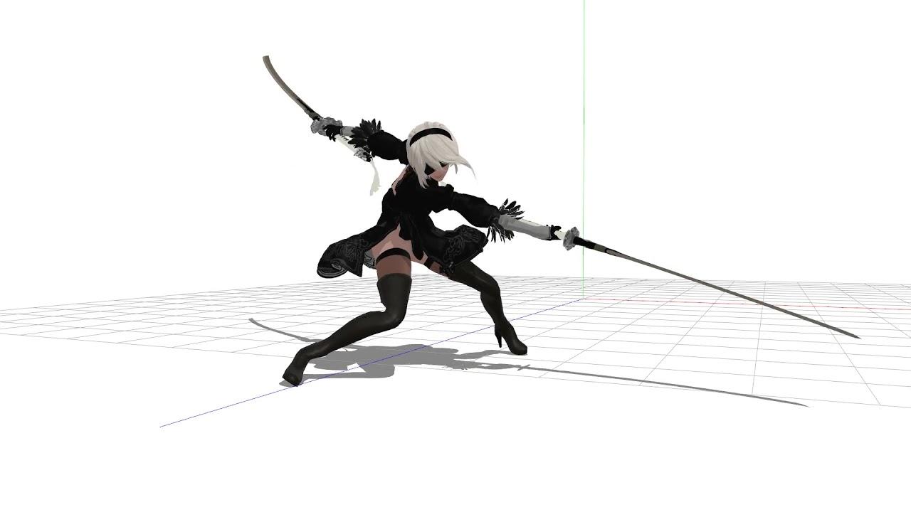 [3D Animation x NieR] 2B combo fan animation