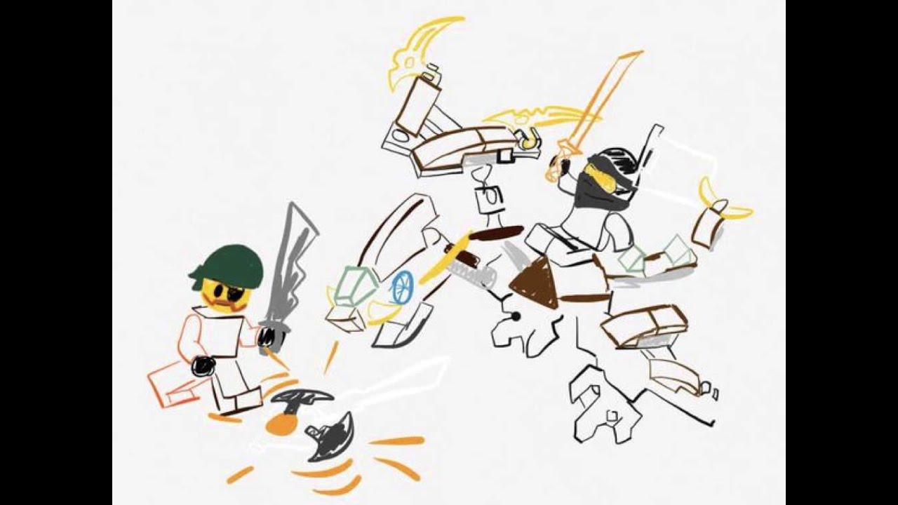 Ninjago 70599 Cole's Dragon Concept Drawing - YouTube