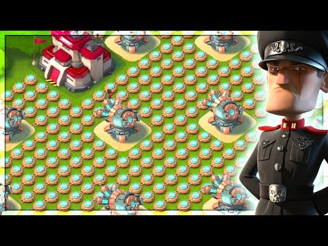 Boom Beach ATTACKING the Strongest Base Designs! Blackguard Base Builder #2!