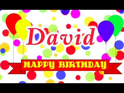 Happy Birthday David Song