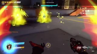 Overwatch Mercy Ultimate with Devil skin equipped