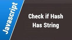 Javascript Arabic Tutorials - Check If Url Hash Contains String