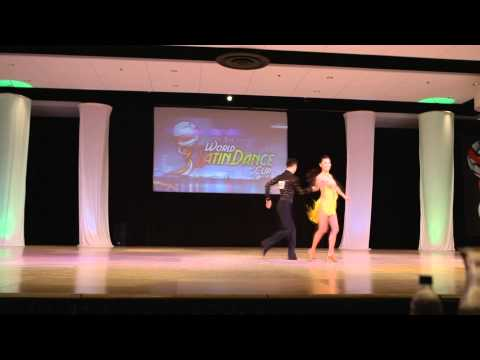 John Narvaez & MJ Huang - USA - Salsa Pro-Am - Semi Finals - World Latin Dance Cup 2012