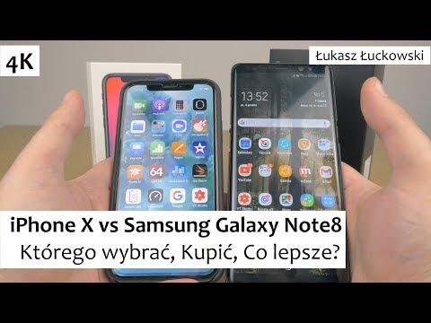 iPhone X vs Samsung Galaxy Note8 | Którego wybrać, Kupić, Co lepsze?