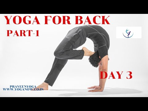 DAY 3 YOGA FOR BACK|STEP BY STEP|Part-2|PRAVEENYOGA - YouTube