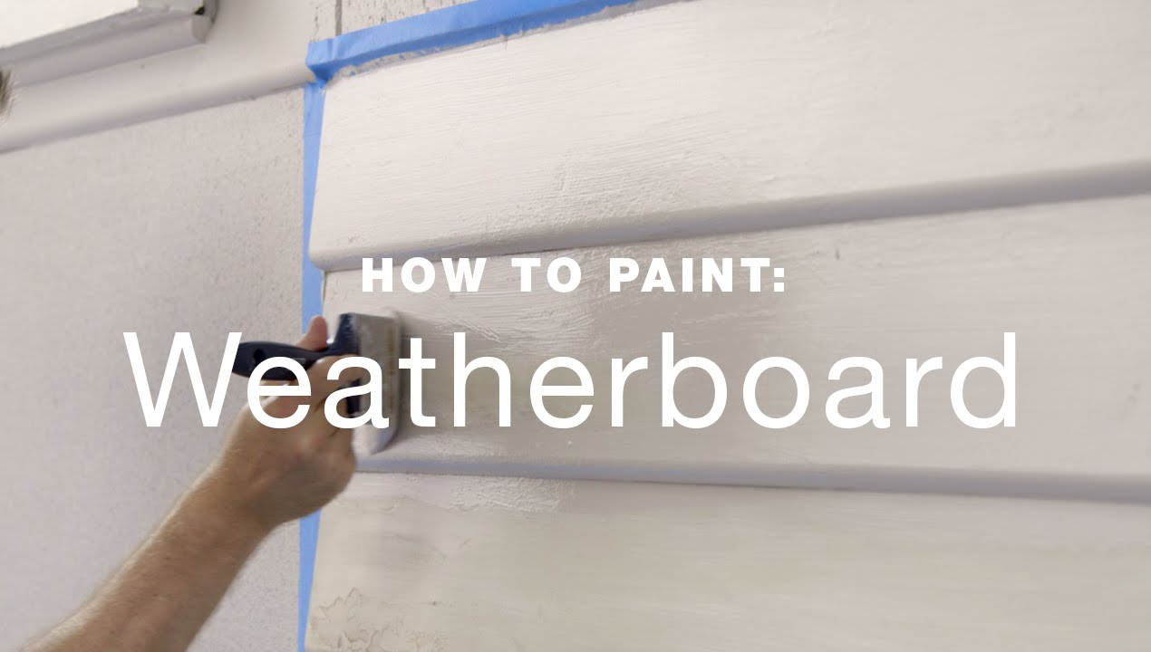 How to paint exterior weatherboards  YouTube