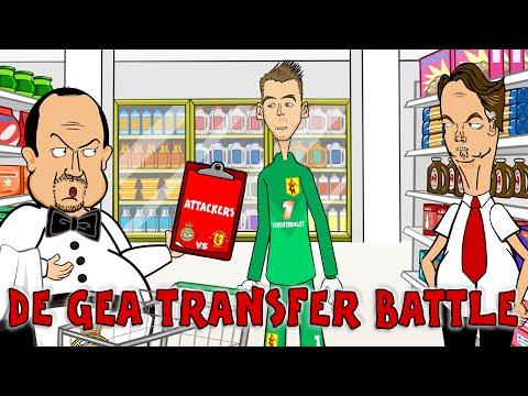 📝De Gea TRANSFER BATTLE📝 Rafa Benitez vs Van Gaal PARODY! (Real Madrid vs Man Utd Cartoon)