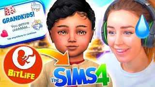 FIRST GRANDCHILD! 👶 - Bitlife Controls My Sims! #11 😅 thumbnail