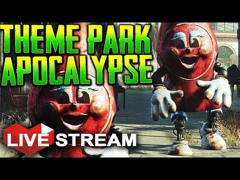 Fallout 4: Nuka World Part 1 | THEME PARK APOCALYPSE! | Gameplay Live Stream