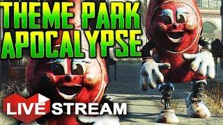 Fallout 4 Nuka World Part 1 THEME PARK APOCALYPSE Gameplay Live Stream