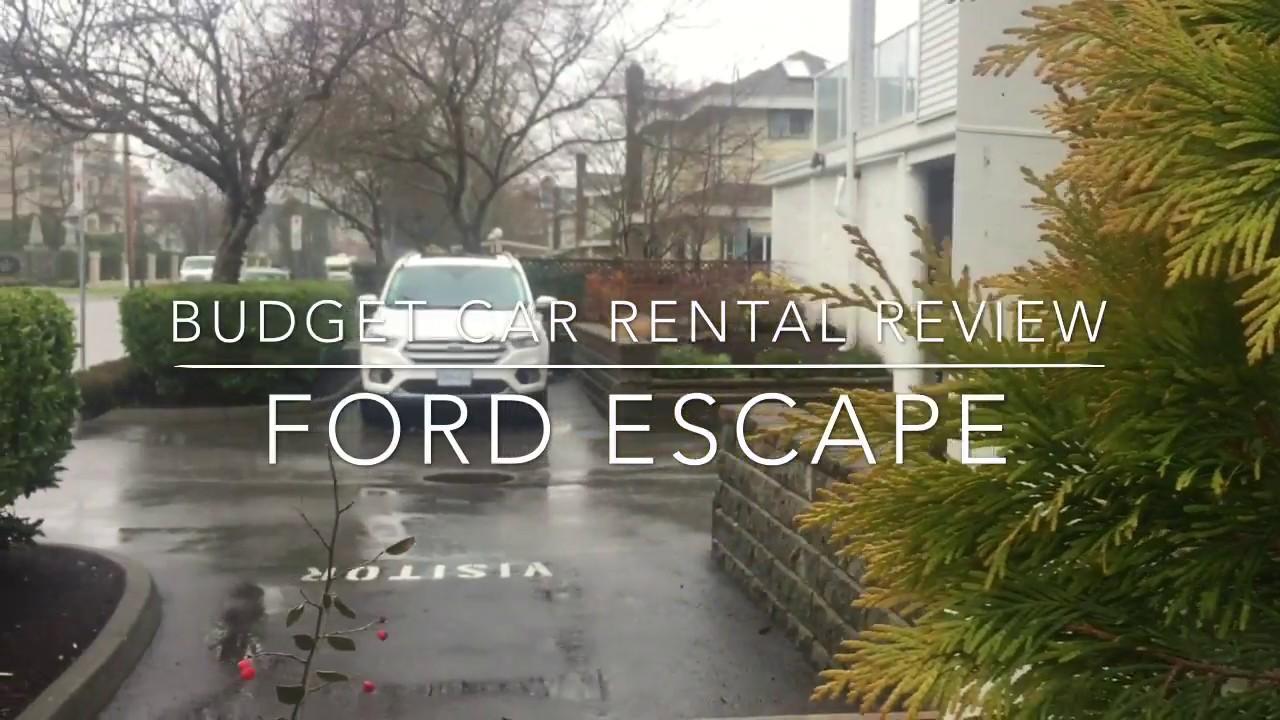 Best Places To Rent A Car L Budget Car Rental Review L Ford Escape L