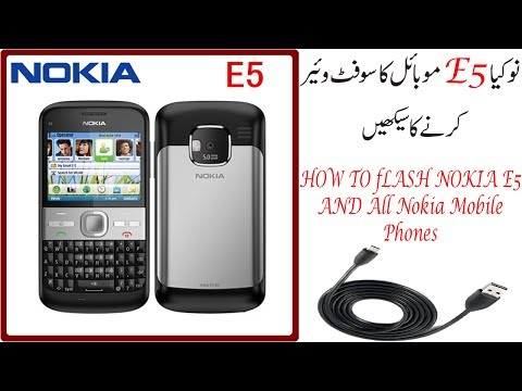 How to Flash Nokia E5 with usb data cable And All nokia mobile flash