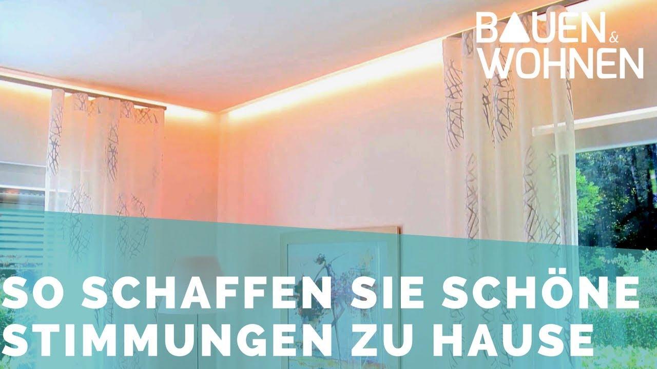 Lichtschienen im Wohnhaus sorgen für die richtige Stimmung und ...