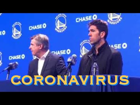 Rick Welts & Bob Myers press conference today talking about the decision and implications of having no fans at home games.
