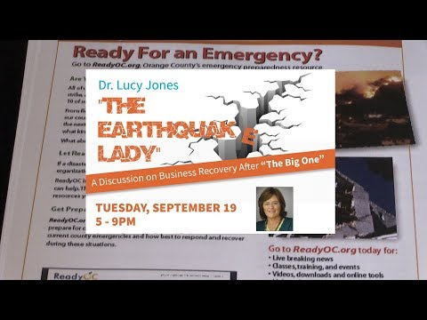 The Earthquake lady: Business Recovery After an Earthquake: Dr  Lucy Jones Sept 19, 2017