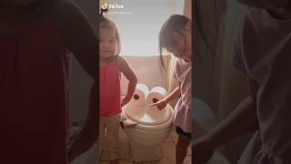 The toilet is smoking prank on daddy!