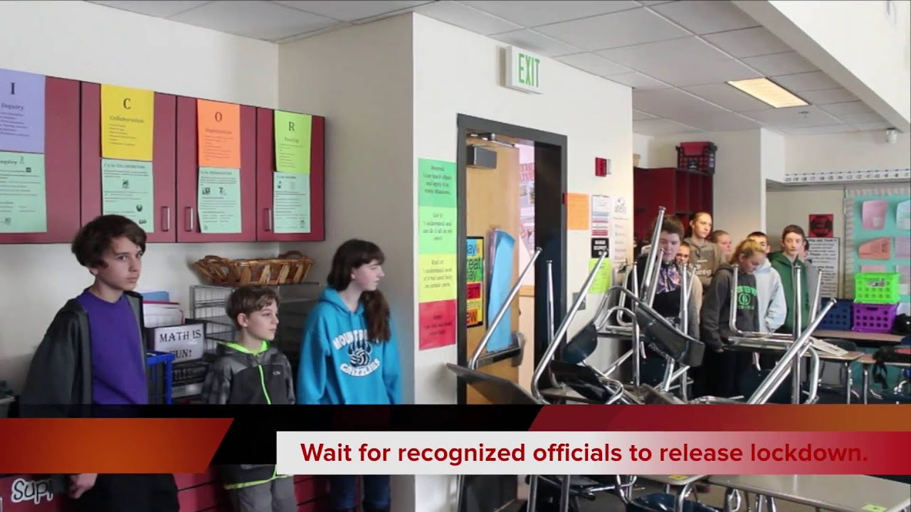 Emergency Lockdown Drill Mt Vernon School District Youtube