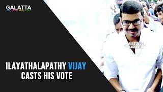 Ilayathalapathy Vijay Casts His Vote | TN Election 2016