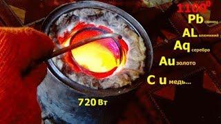 Муфельная .печь-  самоделка для начинающих .muffle furnace