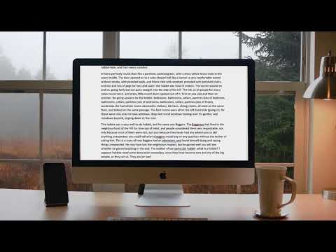 Office Study Session - Rain On Window In Misty Forest [ 1 Hour]