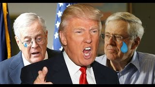 Donald Trump kicks out the Koch Brothers from New Years Eve Party in Florida!!!!