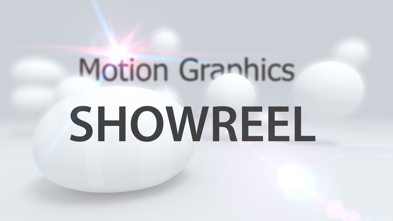 MOTION GRAPHIC SHOWREEL PORTFOLIO - YouTube