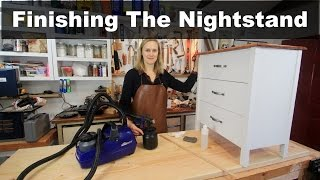 Finishing the Nightstand/Dresser with Clear Coat