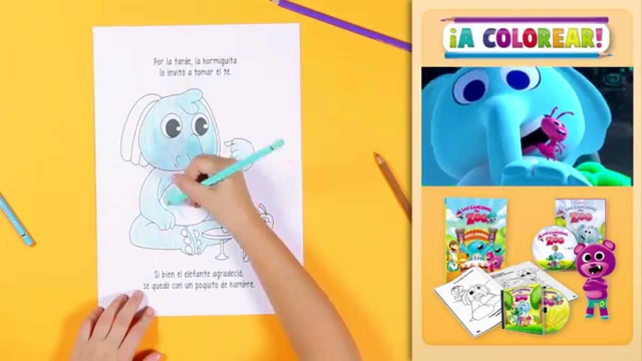 A Colorear los Dibujos de Las Canciones del Zoo | El Reino Infantil ...