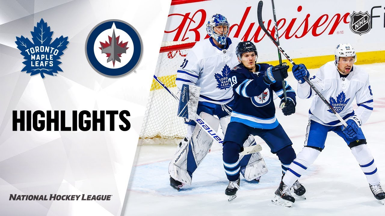 NHL Highlights | Maple Leafs @ Jets 1/2/20