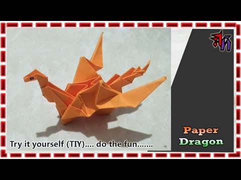 How to make paper dragon by Art House   Paper dragon DIY by Art House