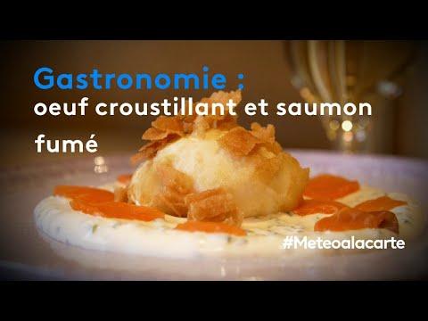 gastronomie-:-œuf-croustillant-et-saumon-fumé---météo-à-la-carte