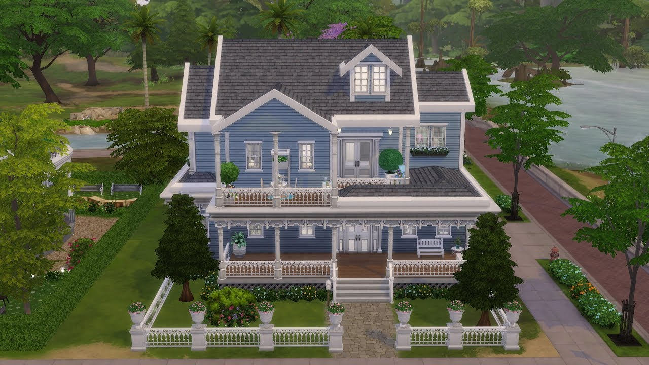 Les sims 4 maison victorienne sans cc construction speed build fr hd youtube - Maison victorienne ...