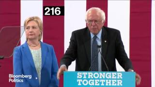 the 406 times hillary clinton nodded during sanders endorsement