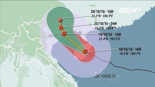(VTC14)_ Bão số 7 giật cấp 12 vào vùng biển Hải Phòng - Quảng Ninh