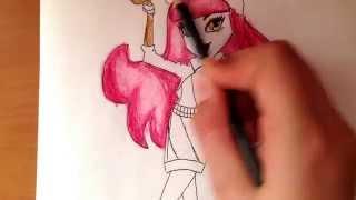 Как рисовать монстр хай Хаулин Вульф(через YouTube Объектив., 2014-03-25T08:26:13.000Z)