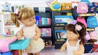 Ani y Ona nenuco montan una tienda de material escolar ¡Vuelta al cole! thumbnail