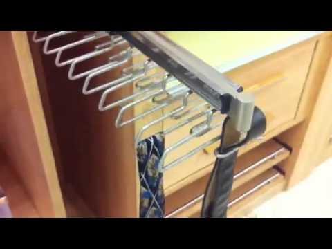 Cinturonero Corbatero Para Armario Mov Youtube