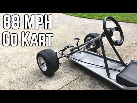 88 MPH DeLorean Kart Build Pt.1   Vintage Go Kart Chassis
