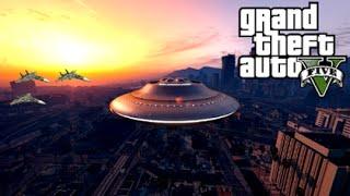 GTA 5 Mods - ALIEN UFO INVASION! (GTA 5 Mod Gameplay)