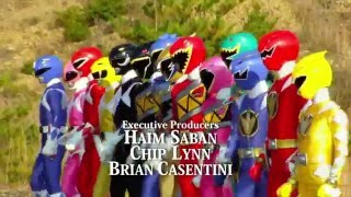 power rangers dino super charge team up fan opening