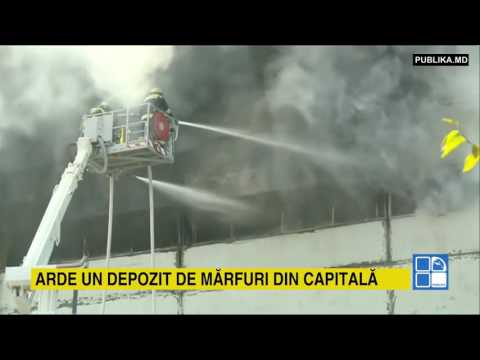 INCENDIU DEVASTATOR la un depozit din Chişinău: Un pompier A MURIT în timpul intervenţiei